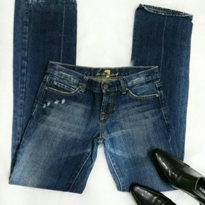 7 For All Mankind jeans size 28 distressed blue